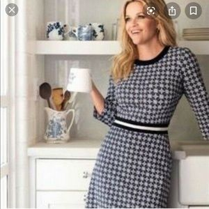 Draper James Navy and White Presley Pointe Dress